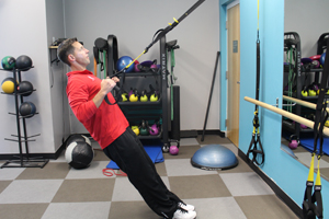 TRX strap system, body weight, resistance