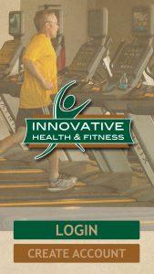 Innovative fitness app splash page